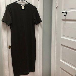 BASIC H&M Olive Green Dress